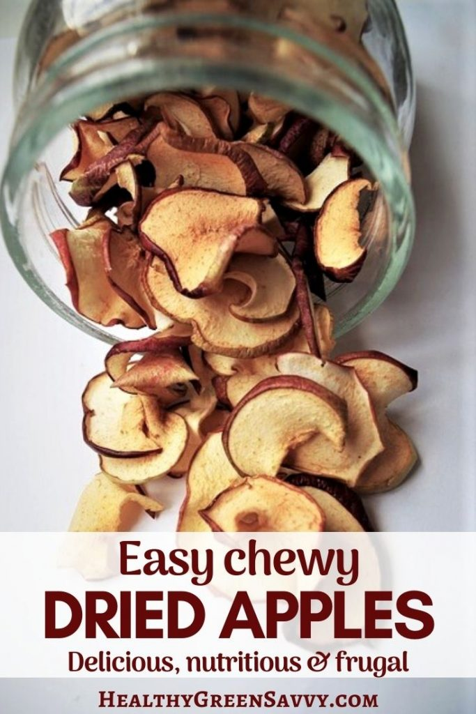 cover photo of dried apples with title text overlay