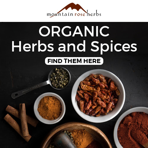 photo of herbs and spices for herbal tea blends from Mountain Rose Herbs
