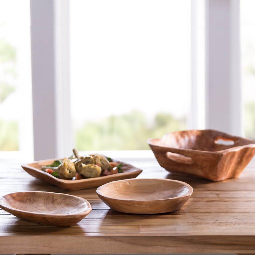 photo of handmade wooden bowls from Viva Terra