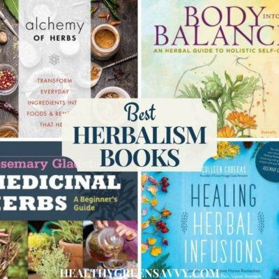 collage of photos of covers of best herbalism books