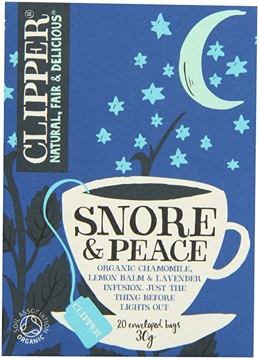 image of Clipper Tea's Snore and Peace relaxing herb tea